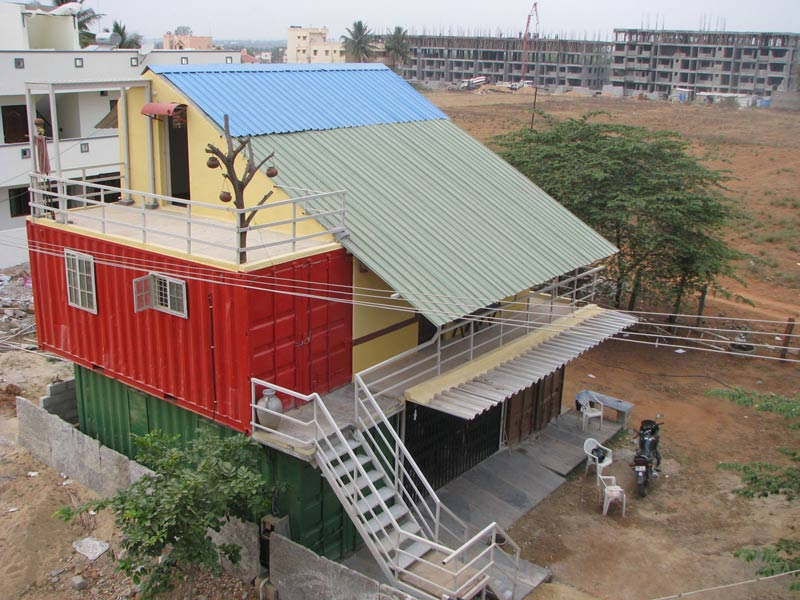 India s 1st container home at bangalore container solutions india unique versatile and - Building shipping container homes ...