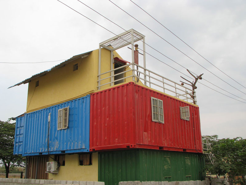 India s 1st container home at bangalore container for Building a house in india